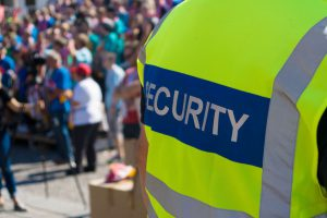 27574891 - a security officer at the concert